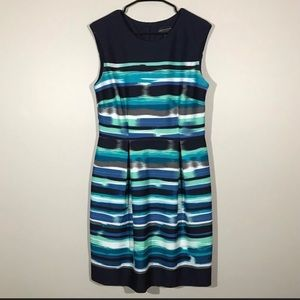 Connected Dress stripe sleeveless watercolor